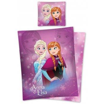 Bavlnené posteľné obliečky Ľadové kráľovstvo - Anna & Elsa