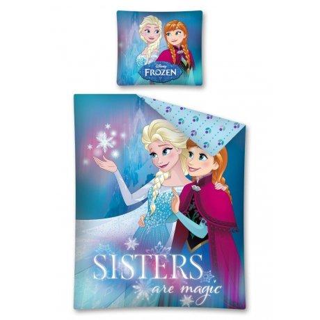 Bavlnené posteľné obliečky Ľadové kráľovstvo - Sisters are magic