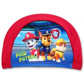Detská kúpacia čiapka Tlapková patrola - červená