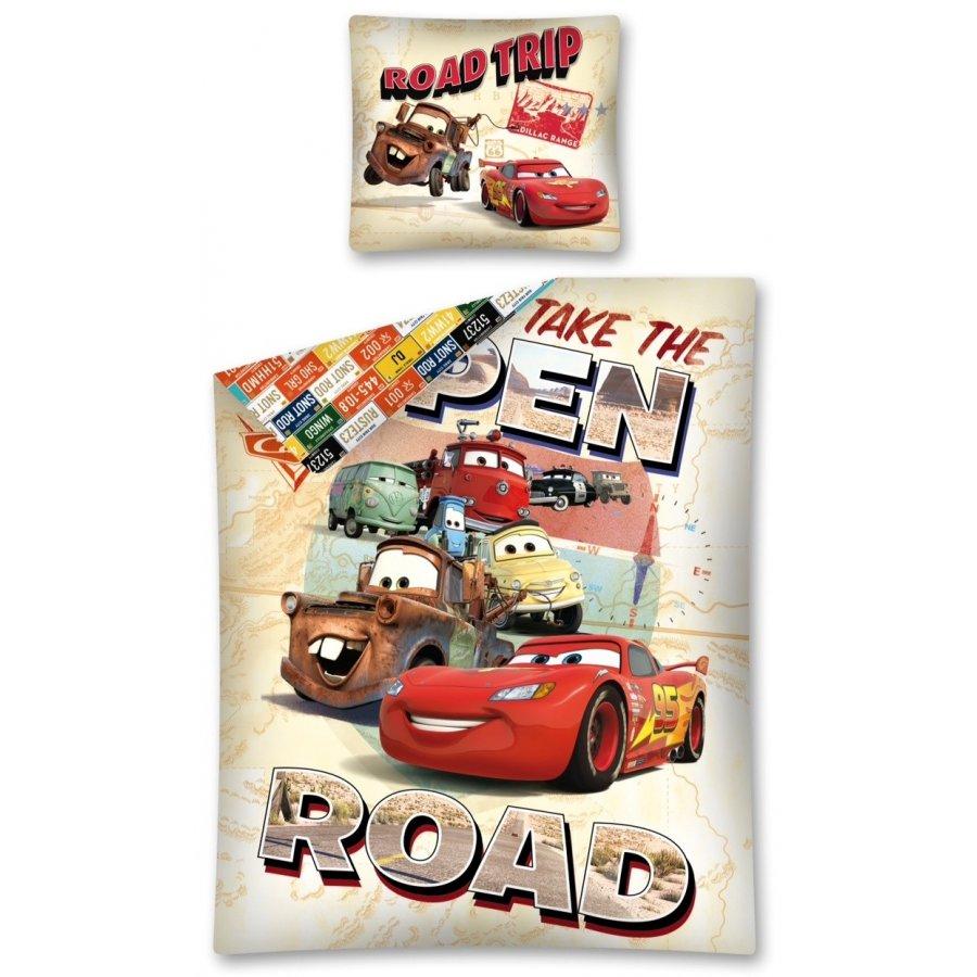 Bavlnené posteľné obliečky Autá - Take The open road