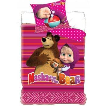 Bavlnené posteľné obliečky Máša a medveď Míša