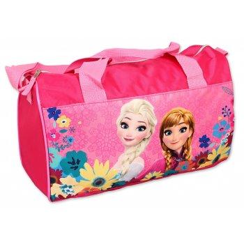 Športová taška Ľadové kráľovstvo - sv. ružová