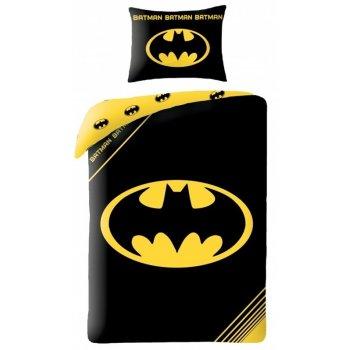 Bavlnené posteľné obliečky Batman - logo