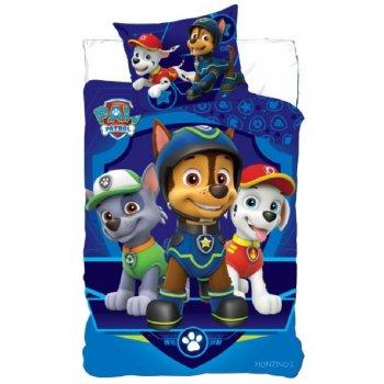 Bavlnené posteľné obliečky Tlapková patrola - Rocky, Chase a Marschall