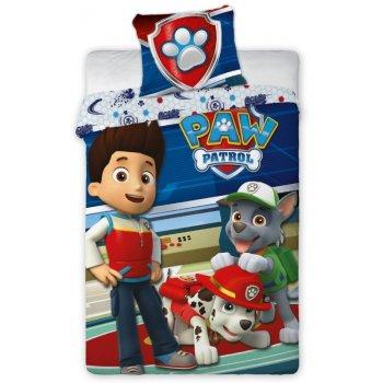 Detské posteľné obliečky Tlapková patrola - Ryder, Marschall a Rocky