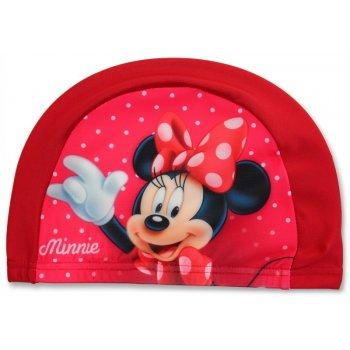 Detská kúpacia čiapka Minnie Mouse - červená