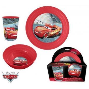 Jedálenská súprava plastového riadu Autá - Blesk McQueen