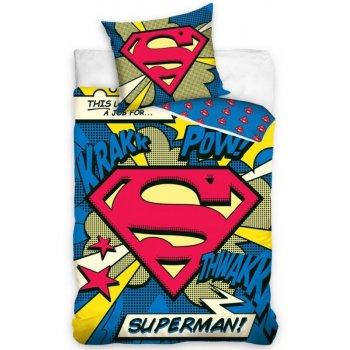 Detské bavlnené posteľné návliečky Superman