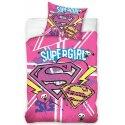 Bavlnené posteľné návliečky Supergirl