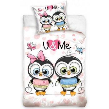 Detské bavlnené obliečky Tučniaky Bonnie a Clyde