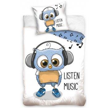 Detské bavlnené obliečky Sova Danny - music