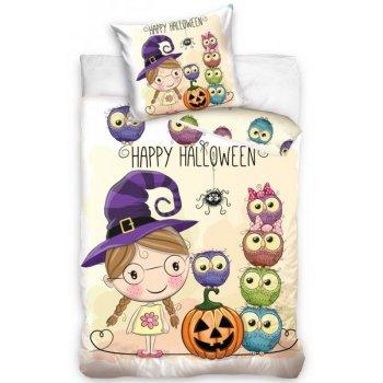 Detské bavlnené obliečky Malá čarodejnica - Happy Halloween