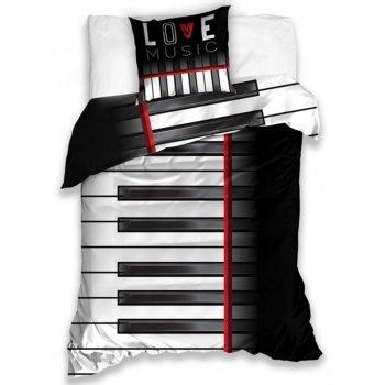 Bavlnené posteľné obliečky Piano
