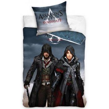 Bavlnené posteľné návliečky Assassin's Creed Syndicate - Jacob and Evie