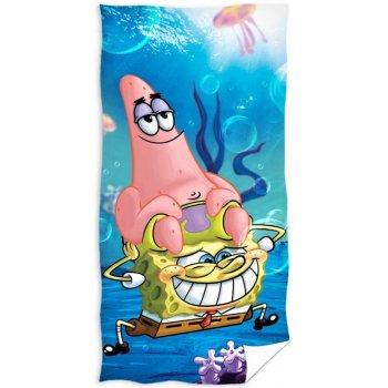 Detská plážová osuška Spongebob a Patrik