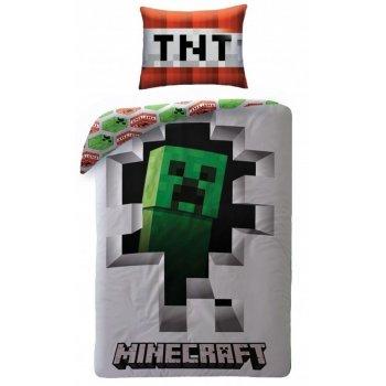 Bavlnené posteľné obliečky Minecraft Creeper