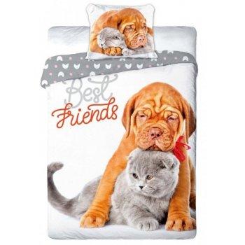 Bavlnené posteľné obliečky Best Friends