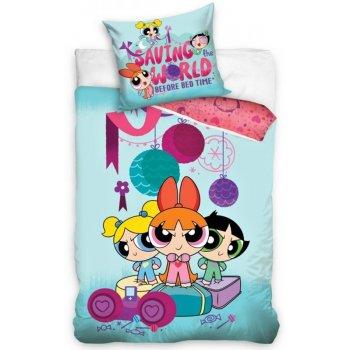 Bavlnené posteľné návliečky The Powerpuff girls - Saving world