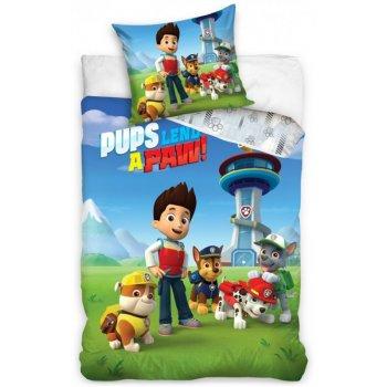 Bavlnené posteľné obliečky Tlapková patrola  - Pups lend a paw