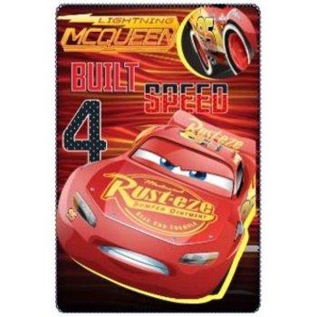 Fleecová deka Autá - Cars - Blesk McQueen