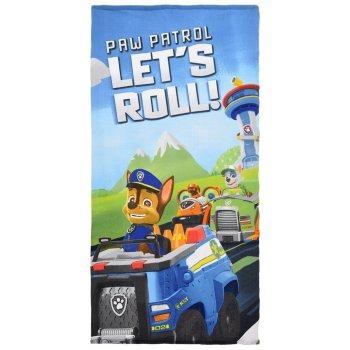 Plážová osuška Paw Patrol - Let's roll!