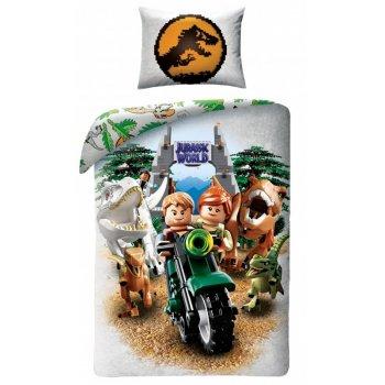 Detské bavlnené posteľné obliečky LEGO Jurský park