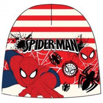 Chlapčenská teplá čiapka Spiderman - červeno / biela