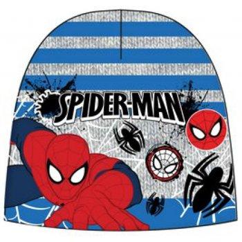 Chlapčenská teplá čiapka Spiderman - šedo / modrá