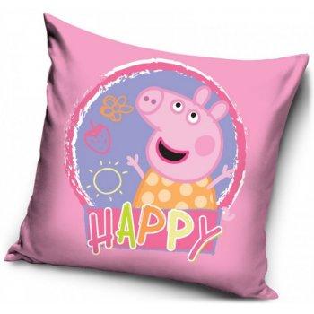 Povlak na vankúš Prasiatko Peppa - sweet happy
