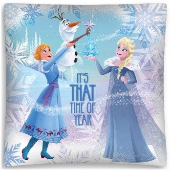 Povlak na vankúš Ľadové kráľovstvo - Anna, Elsa a Olaf