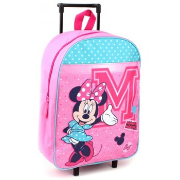 Detský cestovný kufor na kolieskach Minnie Mouse - Disney