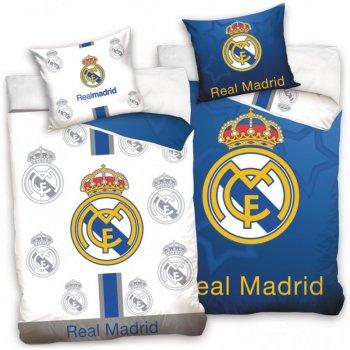 Futbalové posteľné obliečky Real Madrid - Blue and White