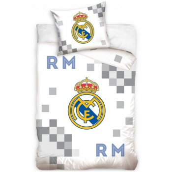 Futbalové posteľné obliečky Real Madrid - Dados Grey