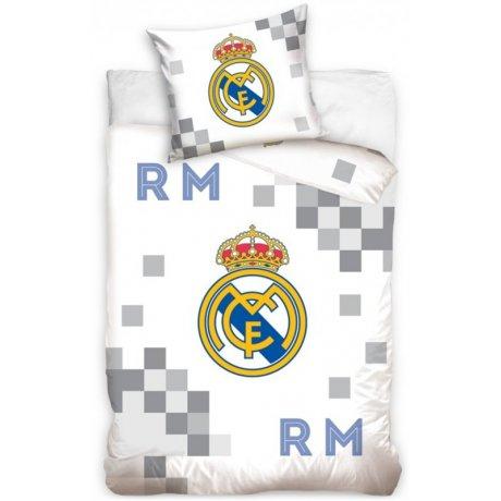 6476a3168 Futbalové posteľné obliečky FC Real Madrid - Dados Grey