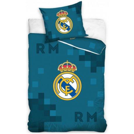 02b3e60eae9fd Futbalové posteľné obliečky FC Real Madrid - Dados Blue