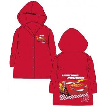 Detská pláštenka Autá - McQueen - červená