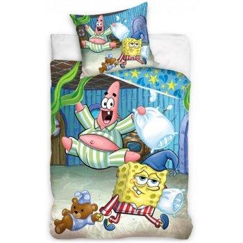 Bavlnené posteľné návliečky Spongebob - pyžamová párty