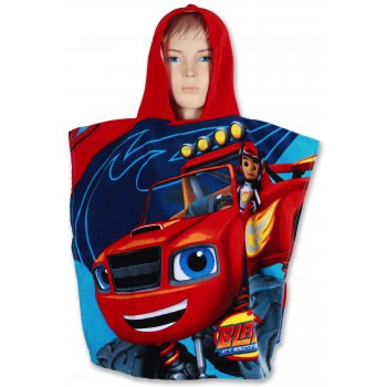 Pončo - osuška s kapucňou Monstertruck Plamienok - Blaze