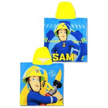 Pončo - osuška s kapucňou Hasič Sam - Fireman Sam