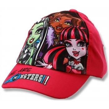 Dievčenská šiltovka Monsters High - červená