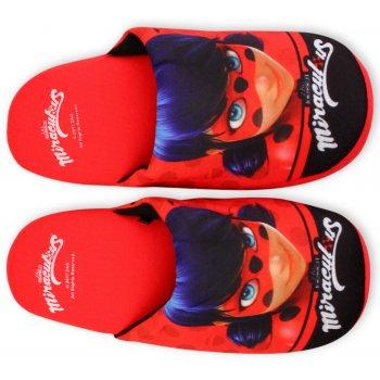 Dievčenské papuče Kúzelná lienka - Ladybug - červené