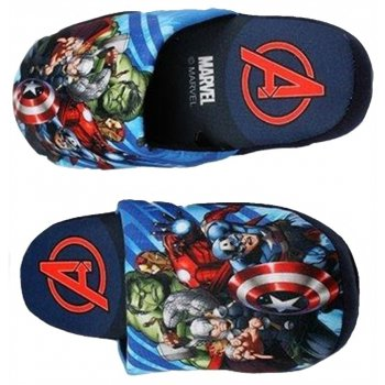 Chlapčenské papuče Avengers - tmavé