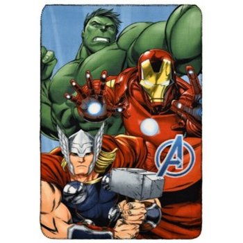 Fleecová deka Avengers - Hulk, Iron Man a Thor