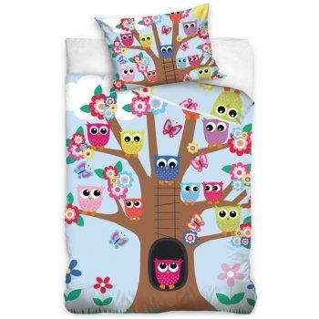 Obliečky do detskej postieľky Sovičky na strome