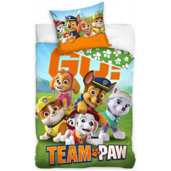 Bavlnené posteľné obliečky Tlapková patrola  - Team Paw GO!