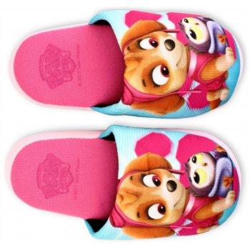 Dievčenské papuče Tlapková patrola - Paw Patrol - sv. ružové