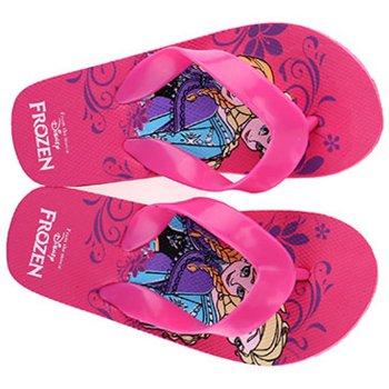 Dievčenské plážové žabky Ľadové kráľovstvo - Frozen - ružové