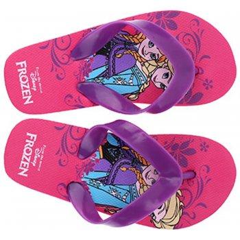 Dievčenské plážové žabky Ľadové kráľovstvo - Frozen - fialové