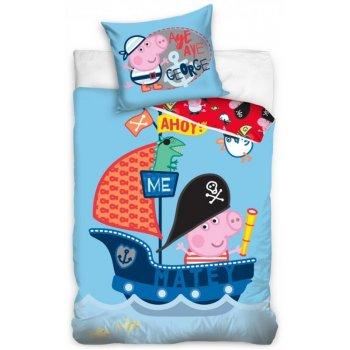 Detské posteľné obliečky Prasiatko Peppa - George námorník