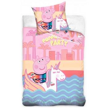 Detské posteľné obliečky Prasiatko Peppa a jednorožec